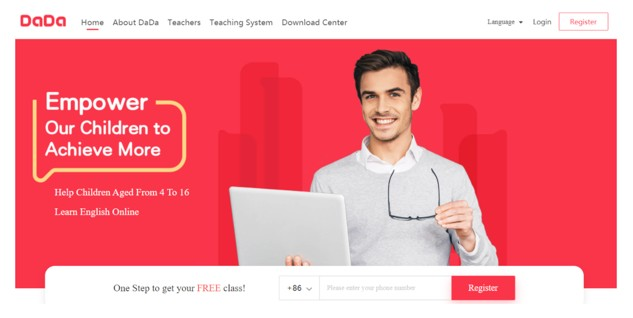 DaDa Teaching web page