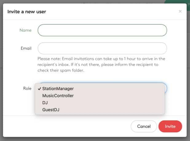 Radio co user permissions