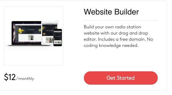 Radio.co website builder