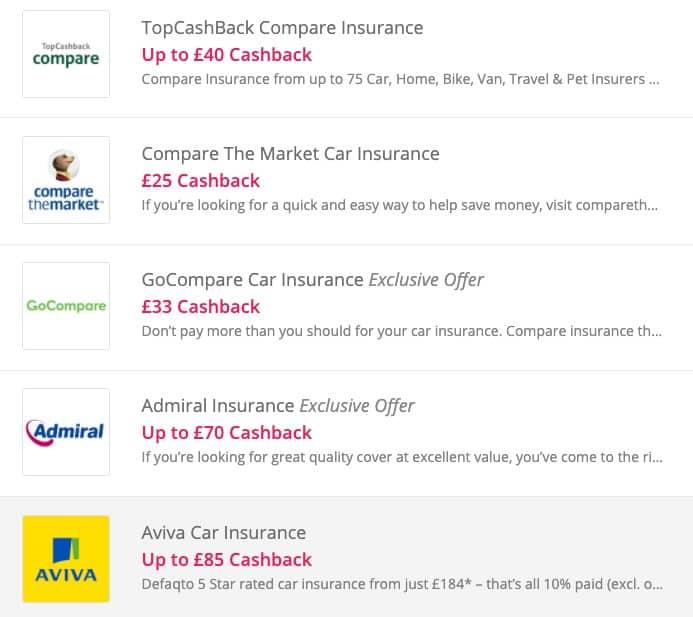 Insurance Cashback