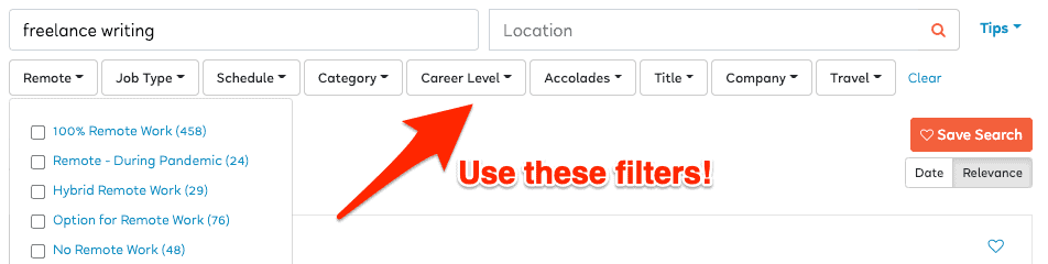 Searching FlexJobs effectively