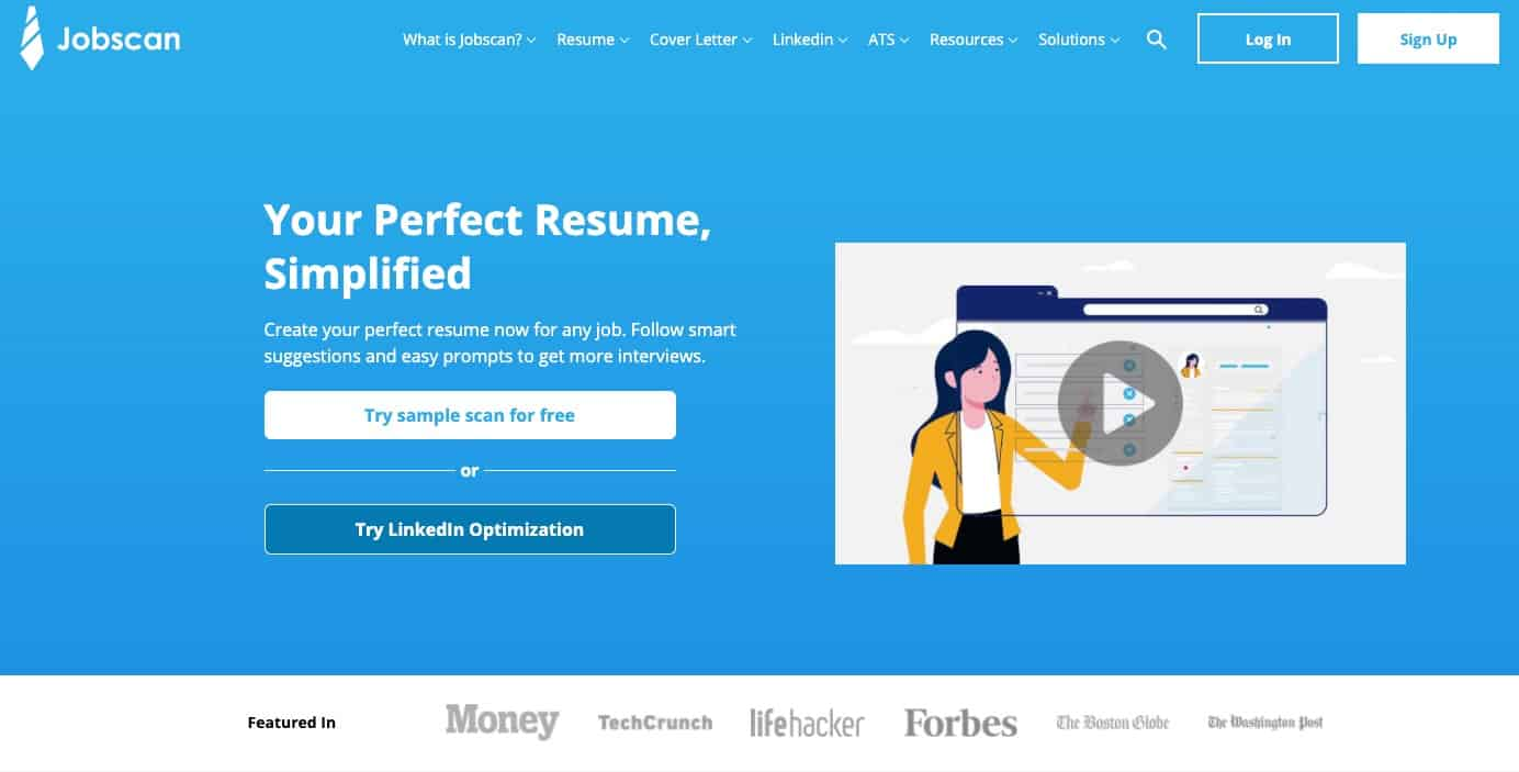 Jobscan home page