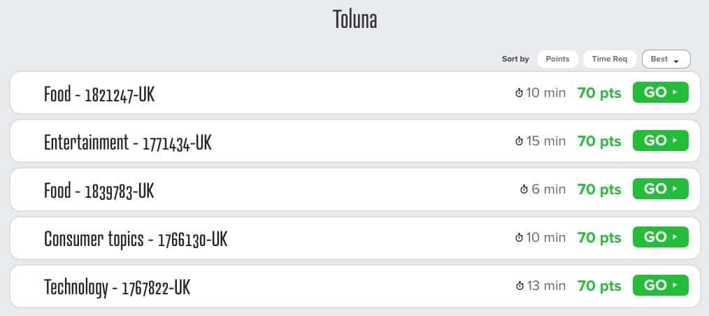 Tonlua Surveys