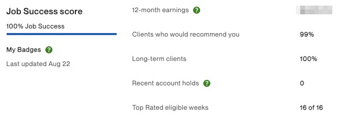 Upwork My Stats Page