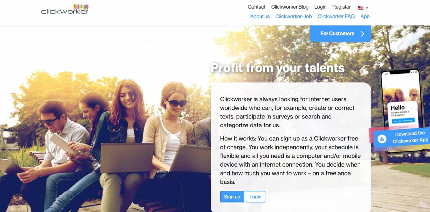 Clickworker Homepage