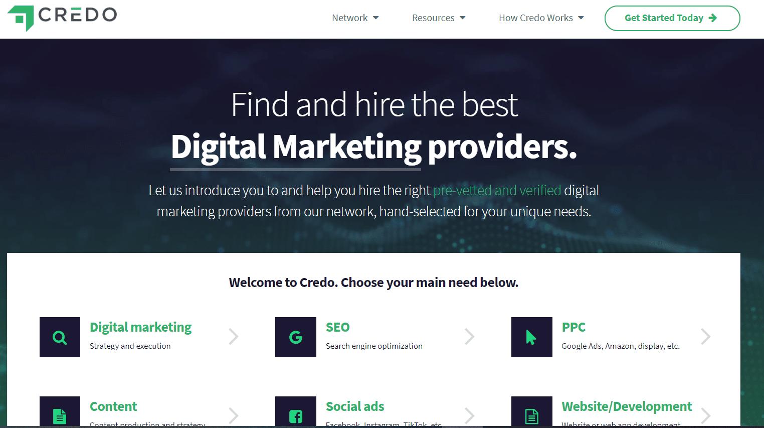 Credo Home Page